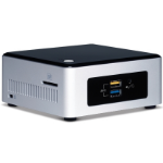 Intel BOXNUC5PPYH PC/workstation barebone N3700 1.6 GHz UCFF Silver,Black BGA 1170