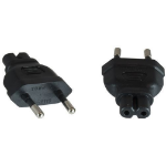 Microconnect PEEUC7AD Type M C7 Black power plug adapter