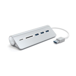 Satechi 3-Port USB 3.0 Hub up to 5.0 Gbps 3x USB portsw/ Card Reader