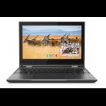 "Lenovo 300e 2nd Gen Black Hybrid (2-in-1) 29.5 cm (11.6"") 1366 x 768 pixels Touchscreen Intel® Celeron® 4 GB LPDDR4-SDRAM 64 GB eMMC Windows 10 Pro"