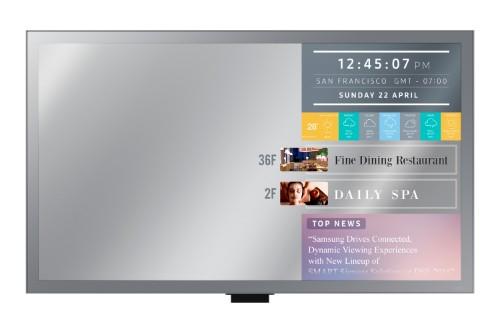 "Samsung LH55MLEPLSC signage display 139.7 cm (55"") LED Full HD Digital signage flat panel Black Wi-Fi"