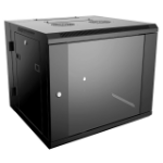 4XEM 4XRACK15UD rack cabinet 15U Wall mounted rack Black