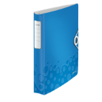 Leitz WOW ring binder A4 Blue,Metallic