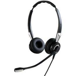 Jabra Biz 2400 II QD Duo NC Auriculares Diadema Negro, Plata
