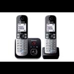 Panasonic KX-TG6822 DECT telephone Black,Silver Caller ID