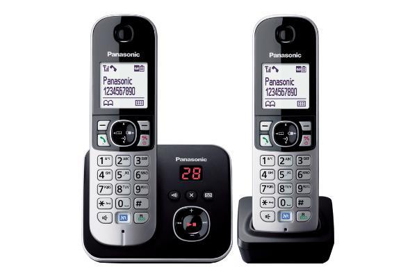 Panasonic TG6822EB DECT Phone Black - Twin