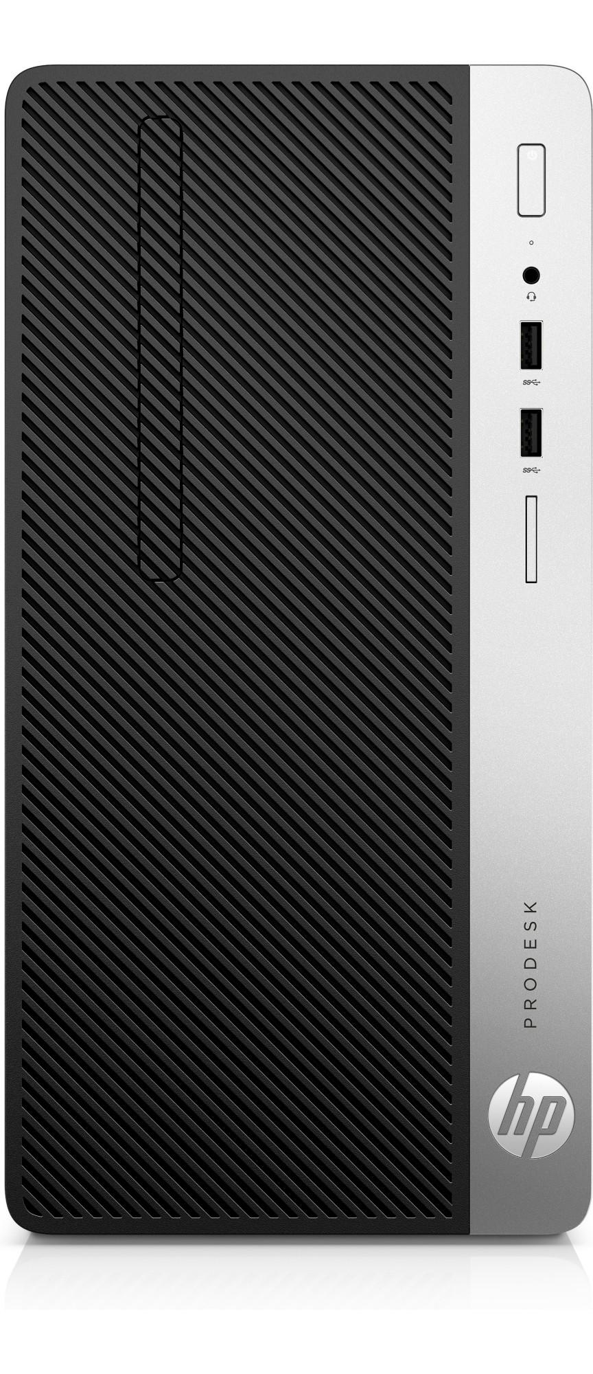 HP ProDesk 400 G6 9th gen Intel® Core™ i5 i5-9500 8 GB DDR4-SDRAM 256 GB SSD Zwart, Zilver Micro Tower PC