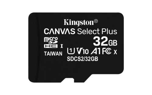 Kingston Technology Canvas Select Plus memory card 32 GB MicroSDHC Class 10 UHS-I