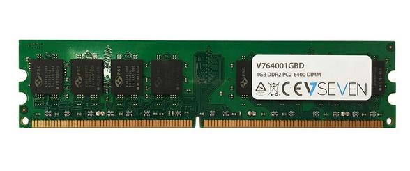 V7 1GB DDR2 PC2-6400 800Mhz DIMM Desktop módulo de memoria - V764001GBD