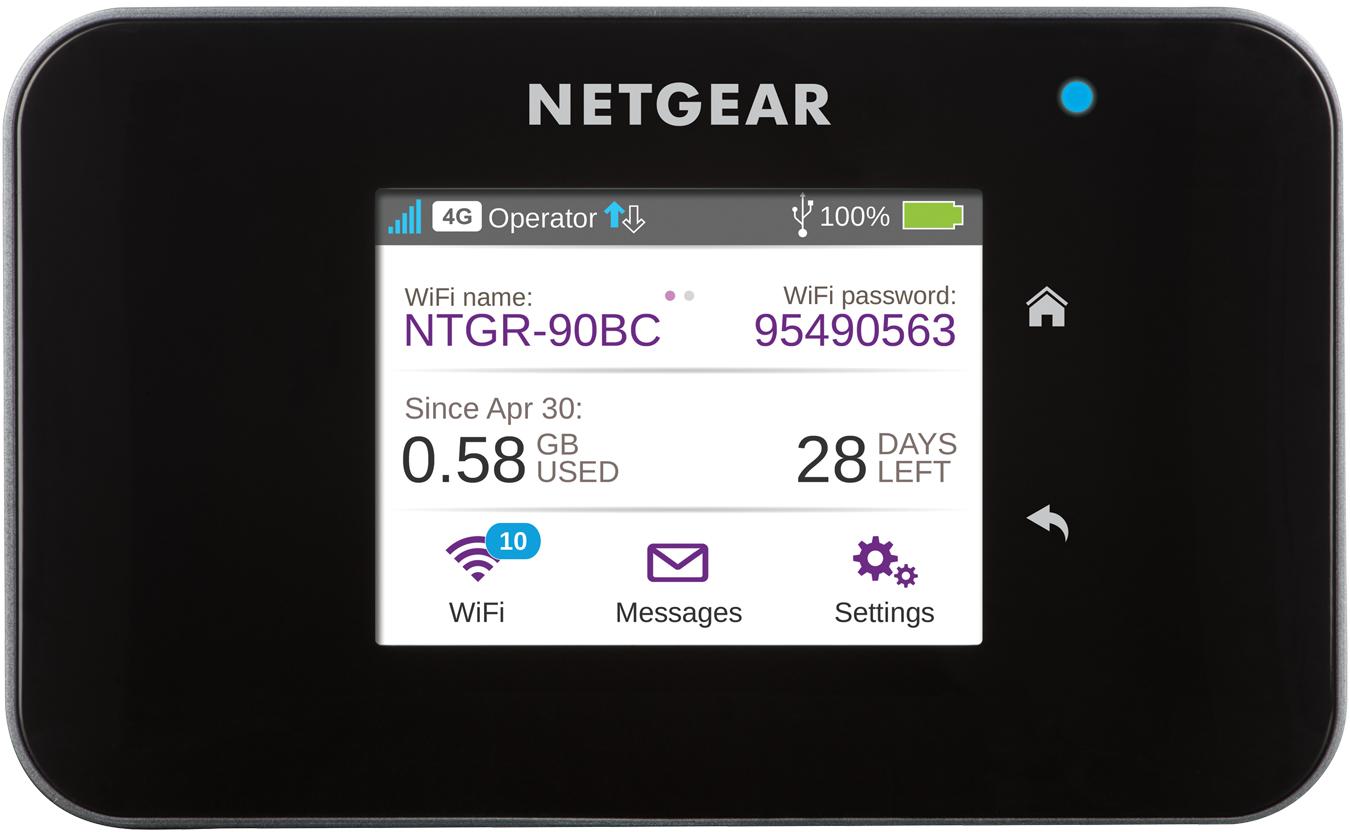 Netgear AirCard 810 Dual-band (2.4 GHz / 5 GHz) Not available Black 3G 4G
