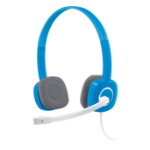 Logitech H150 Binaural Head-band Blue headset