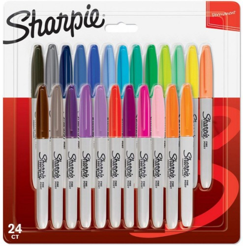 Sharpie 2065405 marker 24 pc(s) Fine/Bullet tip Multicolour