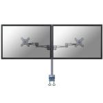 Newstar FPMA-D935D Flat panel Tischhalter 68,6 cm (27 Zoll) Klemme Silber