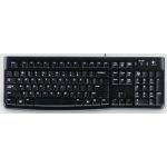 Logitech K120 keyboard USB QWERTY Italian Black