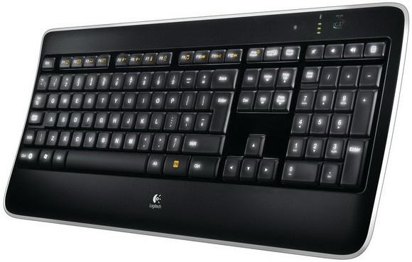 Logitech Wireless Illuminated Keyboard K800 teclado RF inalámbrico AZERTY Francés Negro