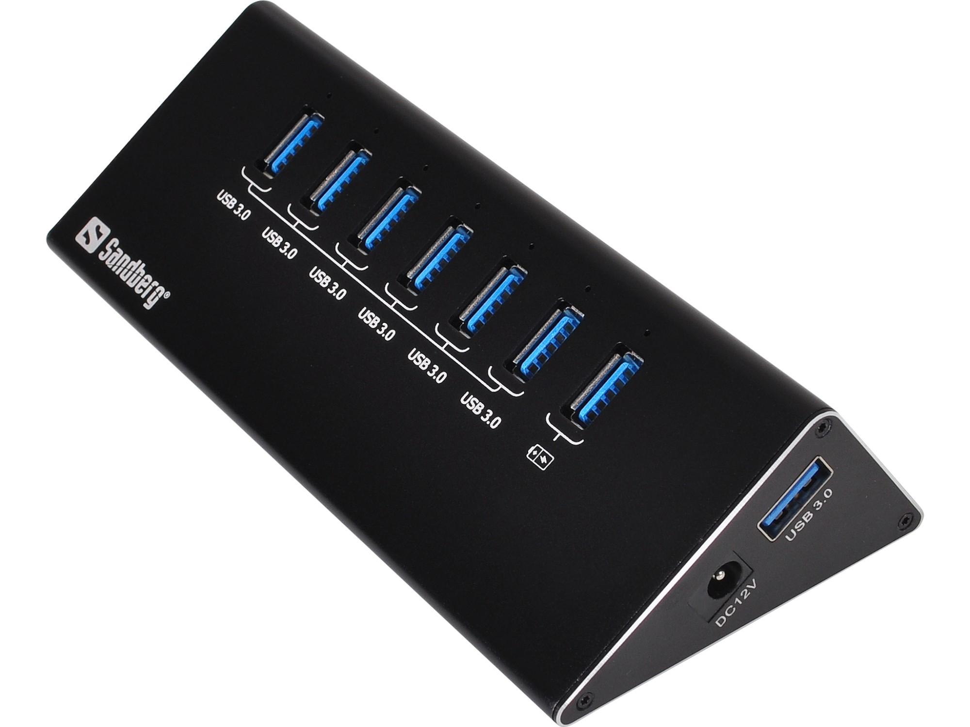 Sandberg USB 3.0 Hub 6+1 portsZZZZZ], 133-82