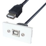 CONNEkT Gear 20-0013 USB cable 2 m 2.0 USB A USB B Black,White
