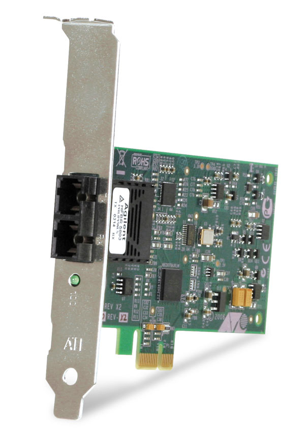 Allied Telesis 100FX Desktop PCI-e Fiber Network Adapter Card w/PCI Express 100 Mbit/s