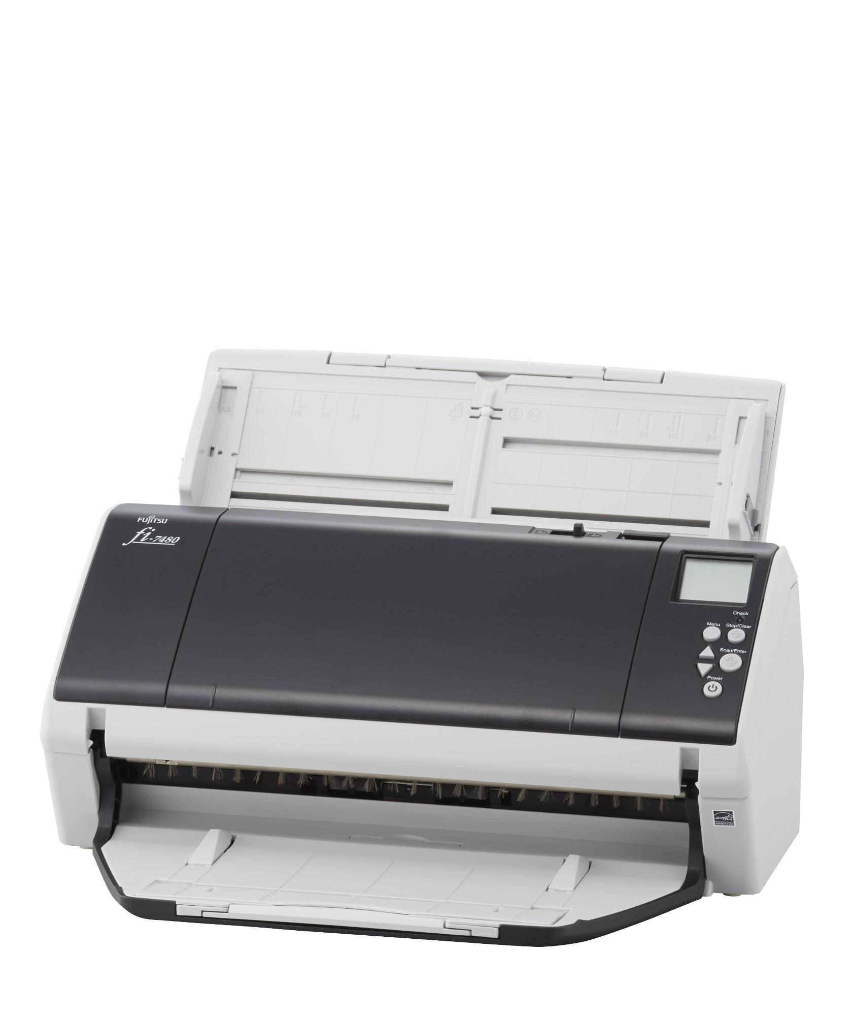 Fujitsu fi-7480 ADF scanner 600 x 600 DPI A3 Grey, White