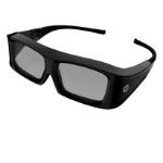 HP XC554AA stereoscopic 3D glasses Black