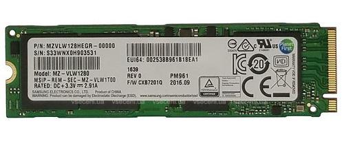 Samsung PM961 M.2 128 GB PCI Express 3.0 NVMe