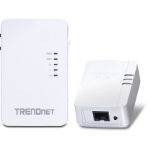 Trendnet TPL-410AP + TPL-406E kit Ethernet LAN connection Wi-Fi White 2pcs PowerLine network adapter