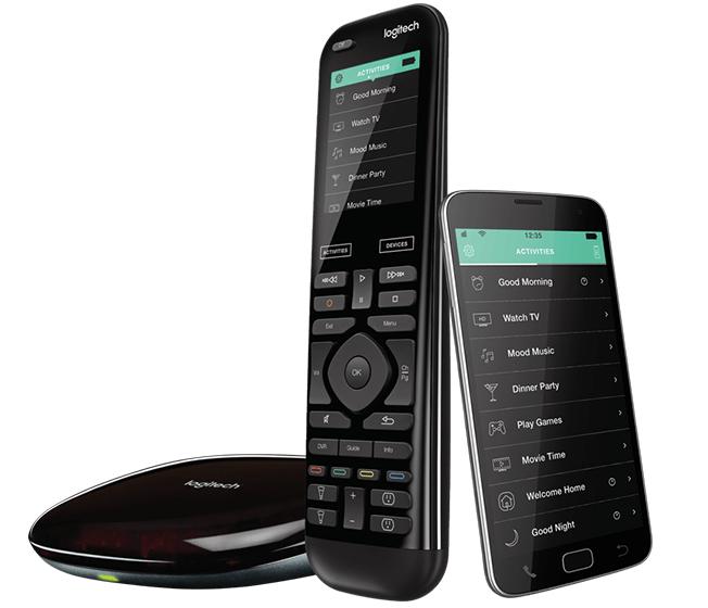 Logitech Harmony Elite Touch screen/Press buttons Black remote control