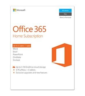 Microsoft Office 365 Home 1 year(s) English
