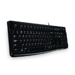 Logitech K120 keyboard USB QWERTZ Swiss Black