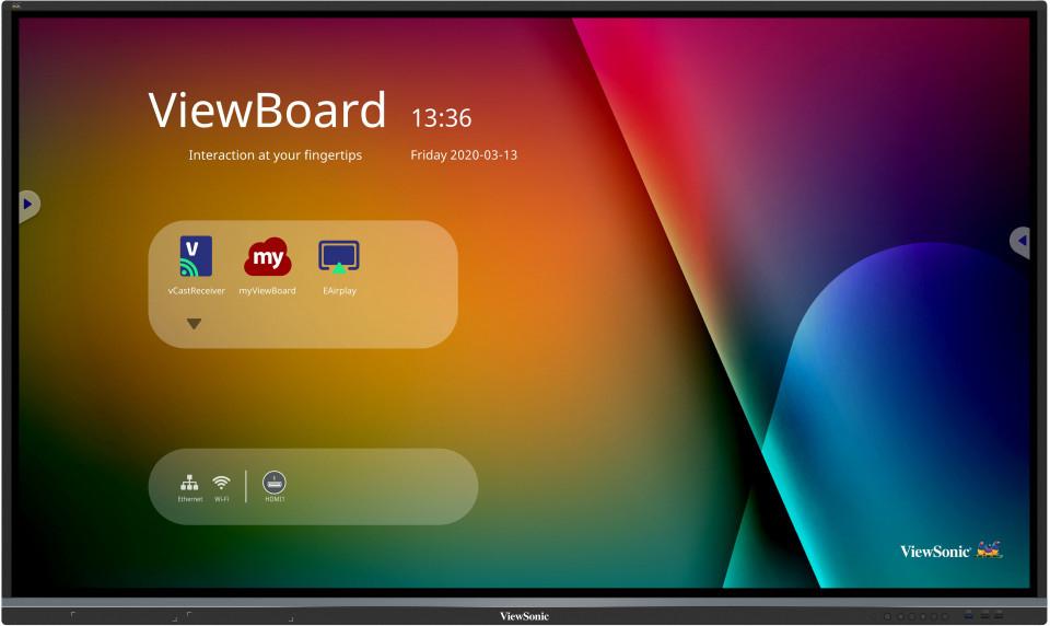 "Viewsonic IFP5550-3 interactive whiteboard 139.7 cm (55"") 3840 x 2160 pixels Touchscreen Black HDMI"
