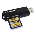 Integral USB 3.0 Card Reader USB 3.0 Black card reader