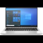 """HP EliteBook x360 1040 G8 Hybrid (2-in-1) 35.6 cm (14"""") 1920 x 1080 pixels Touchscreen 11th gen Intel® Core™ i5 8 GB LPDDR4x-SDRAM 256 GB SSD Wi-Fi 6 (802.11ax) Windows 10 Pro Silver"""