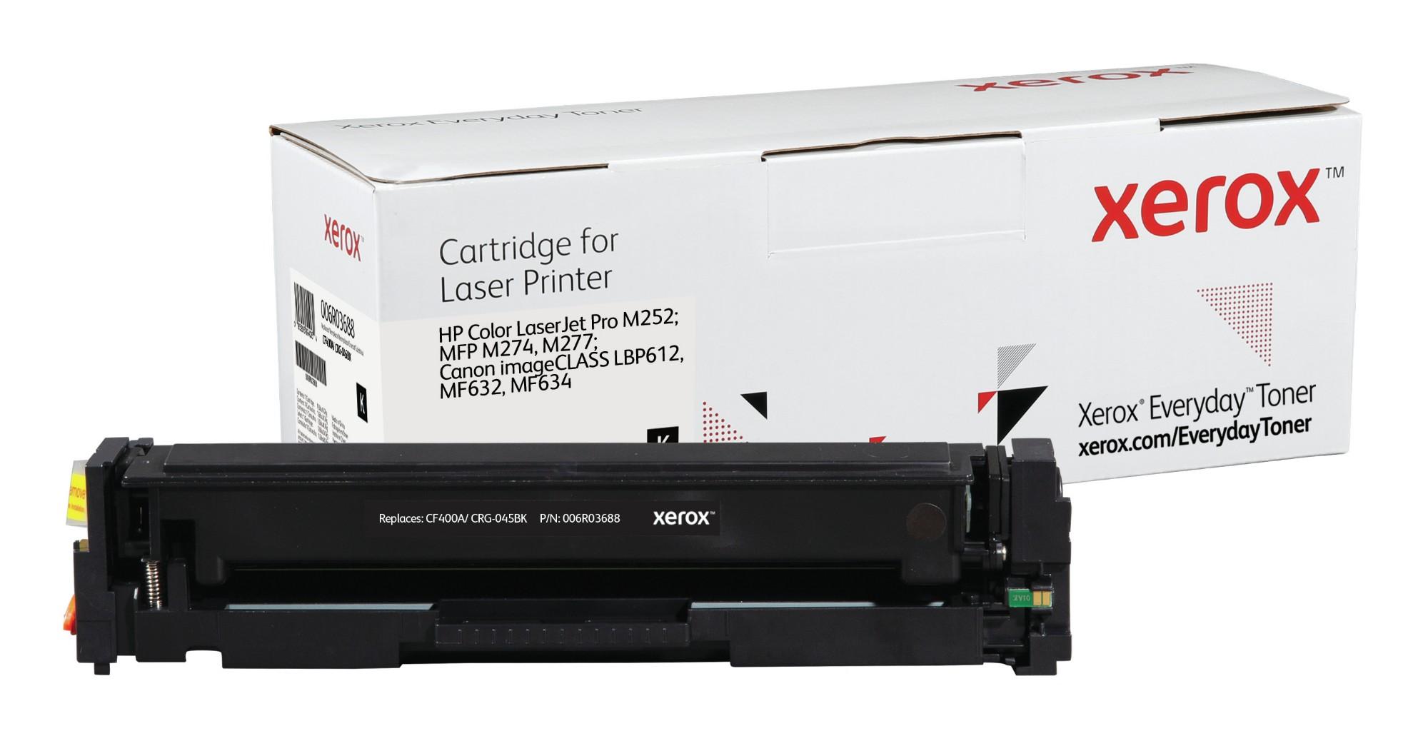 Xerox Tóner de Rendimiento estándar Negro Everyday, HP CF400A/ CRG-045BK equivalente de , 1500 páginas
