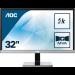 "AOC Pro-line U3277PWQU pantalla para PC 80 cm (31.5"") 3840 x 2160 Pixeles 4K Ultra HD LCD Plana Mate Negro"