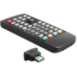 DeLOCK 62442 IR Wireless Push buttons Black remote control