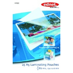 Ednet 25 A5 Laminating Pouches 80 Mic 25pc(s) laminator pouch