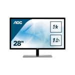 "AOC Value-line U2879VF pantalla para PC 71,1 cm (28"") 3840 x 2160 Pixeles 4K Ultra HD LCD Negro"