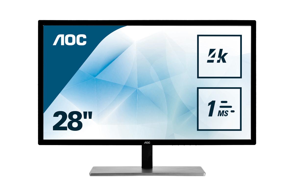 "AOC Value-line U2879VF computer monitor 71.1 cm (28"") 3840 x 2160 pixels 4K Ultra HD LCD Black"