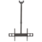 "Manhattan TV & Monitor Mount, Ceiling, 1 screen, Screen Sizes: 37-75"", Height: 105-156 cm, Black, VESA 200x200 to 800x400mm, Max 50kg, LFD, Lifetime Warranty"