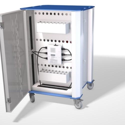 NUWCO PLASCHROME32B portable device management cart/cabinet Blue,White