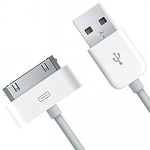 "4XEM 4XUSB2APPL3FT mobile phone cable Mini-USB A Apple 30-p White 39.4"" (1 m)"