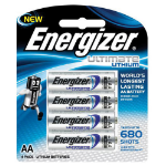 ENERGIZER BATTERY ENERGIZER LITHIUM L91 AA BP4(EACH)