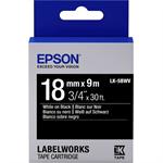 Epson C53S655014 (LK-5BWV) DirectLabel-etikettes, 18mm x 9m