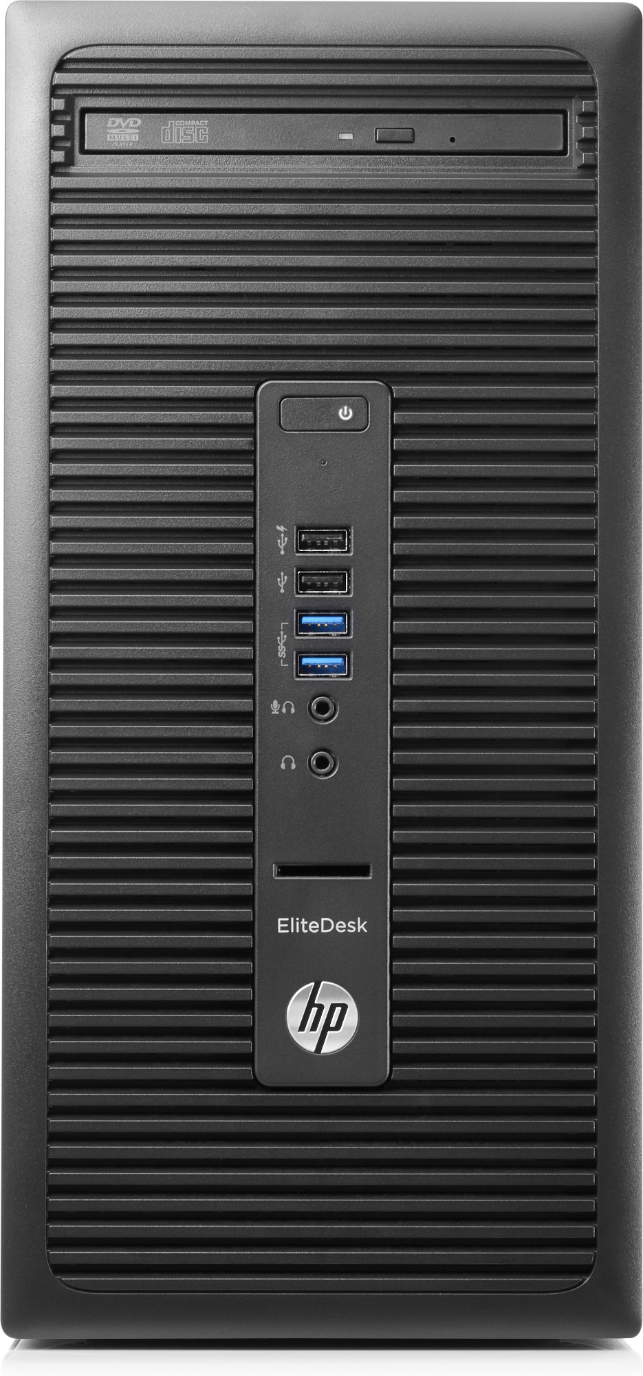 HP EliteDesk 705 G3 AMD Ryzen 3 PRO 1200 8 GB DDR4-SDRAM 256 GB SSD Black Micro Tower PC