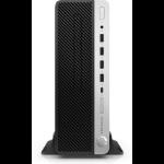 HP ProDesk 600 G4 Intel® Core™ i5 der achten Generation i5-8500 16 GB DDR4-SDRAM 512 GB SSD Schwarz, Silber SFF PC
