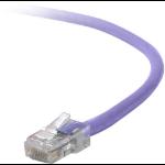 "Belkin Cat5e, 4ft, 1 x RJ-45, 1 x RJ-45, Purple networking cable 47.2"" (1.2 m)"