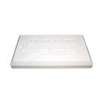 Cables Direct UT-8804 wall plate/switch cover White