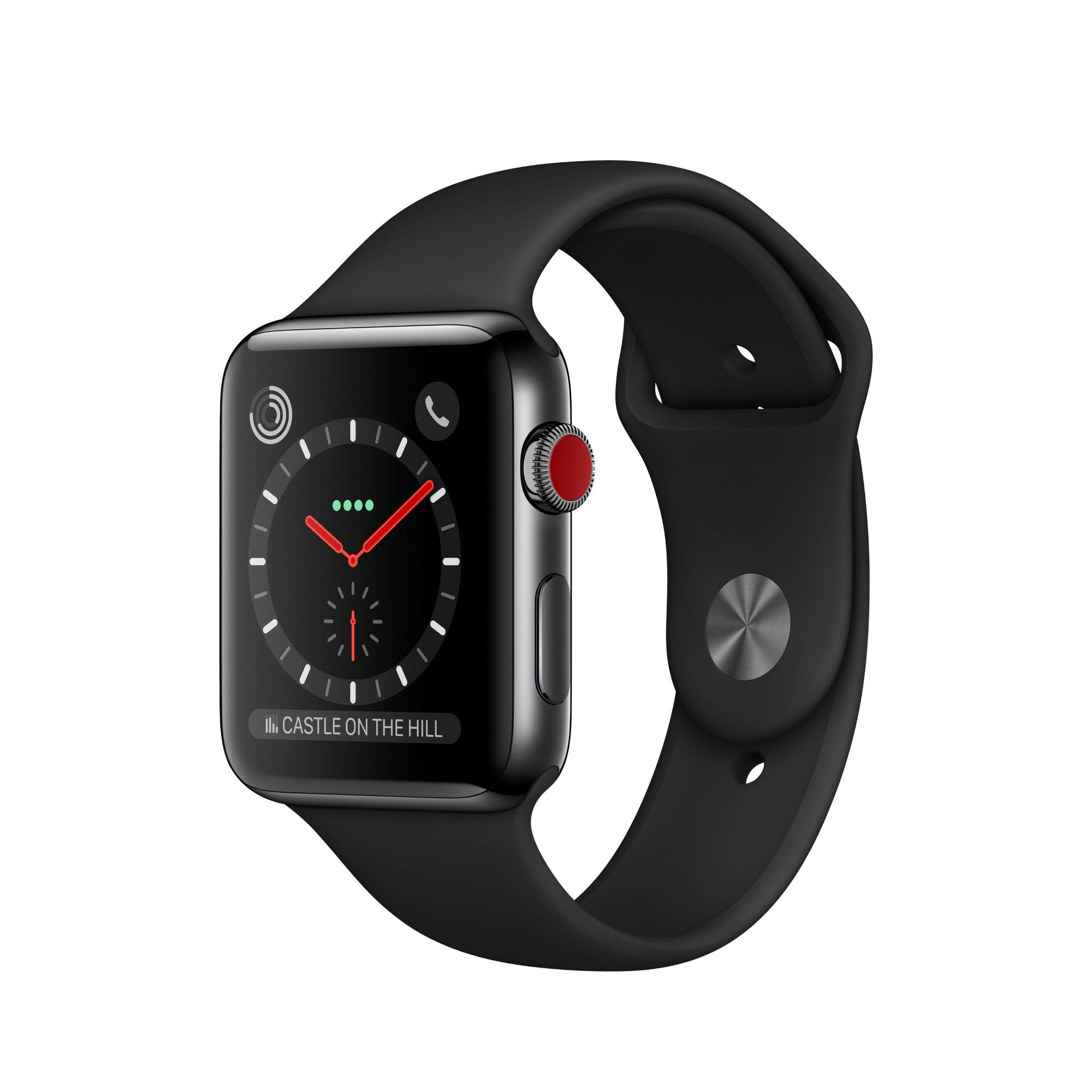Watch Series 3 (gps + Cellular) - 42 Mm - Space Black Stainless Steel - Smart Watch With Sport (MQM02B/A)