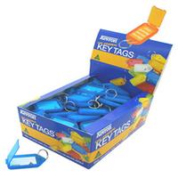 KEVRON CLICKTAG PLASTIC BLUE PK100 KEVRONID5B