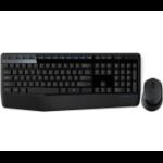 Logitech Combo MK345 RF Wireless QWERTY Black,Blue keyboard
